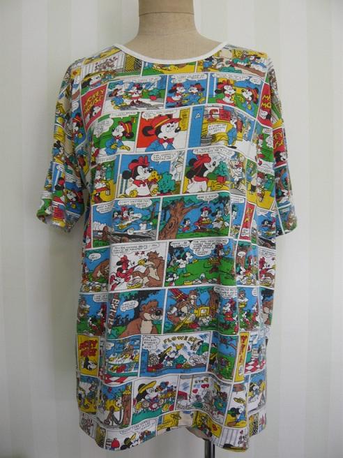 """""""SUNDAY COMICS"""" サンデーコミックス Mickey T-shirt ミッキー Tシャツ"""