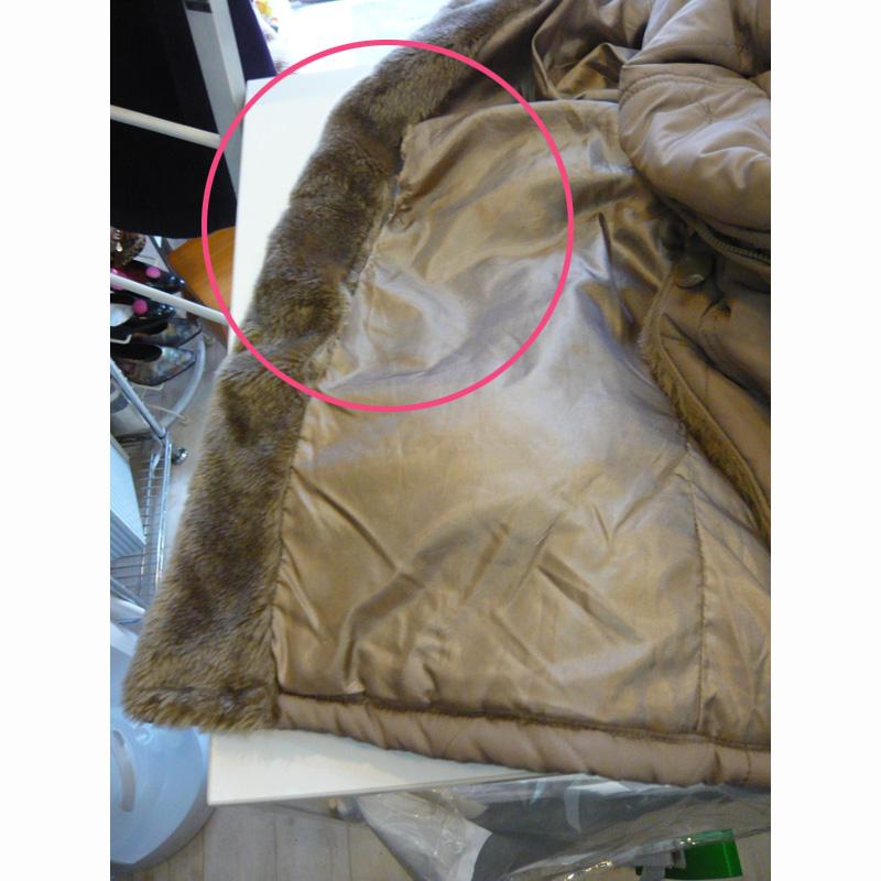 コートの裏地やぶれを修繕 Lining Repair