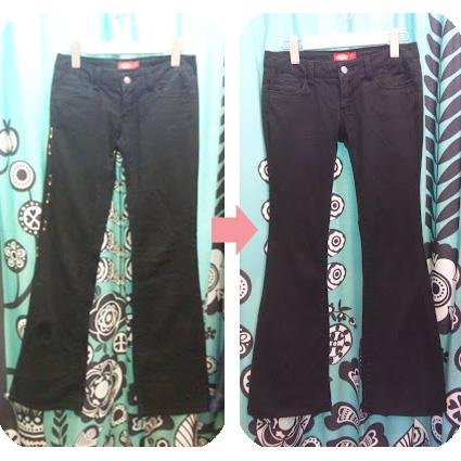 パンツの脇幅詰め width alteration for pants