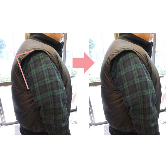 ダウンベスト 肩・アームホールのお直し down vest sholder alteration