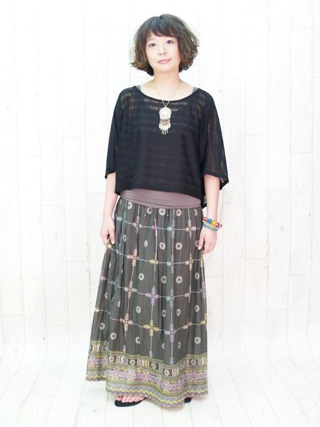 新品: インカ コットンマキシスカート