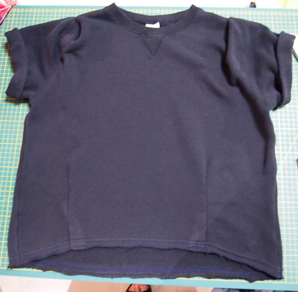 sweatshirt cutoff